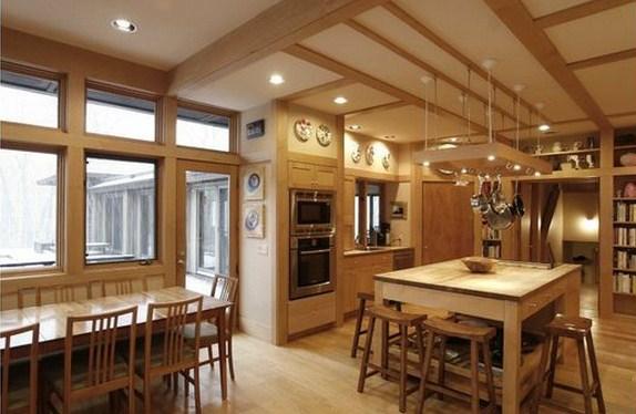 Plano de casa moderna con cocina
