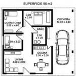 Plano de casa simple de 95m2
