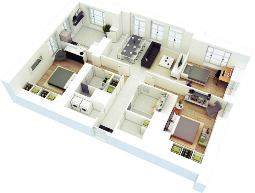 Planos arquitectonicos de 8x15 for Planos arquitectonicos de casas