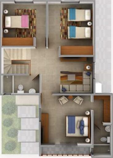 Planos de casas de dos pisos for Planos de casas minimalistas de 2 pisos