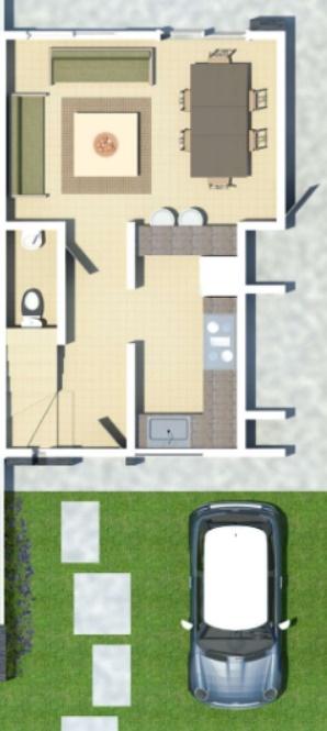Planos de casas de 70m2 con 3 dormitorios gratis planos for Planos de casas 6x20