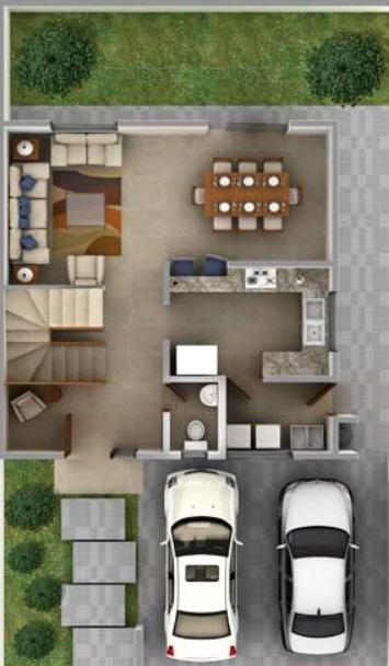 Arquitectos famosos planos descarga dwg for Planos de casas de 2 pisos