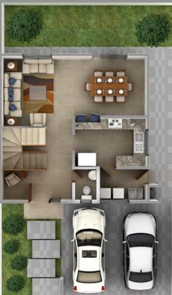 Planos de casas pequenas con medidas en metros planos de for Planos de casas de dos pisos modernas