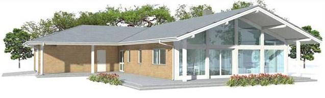 Planos de casas en forma de L con cochera doble
