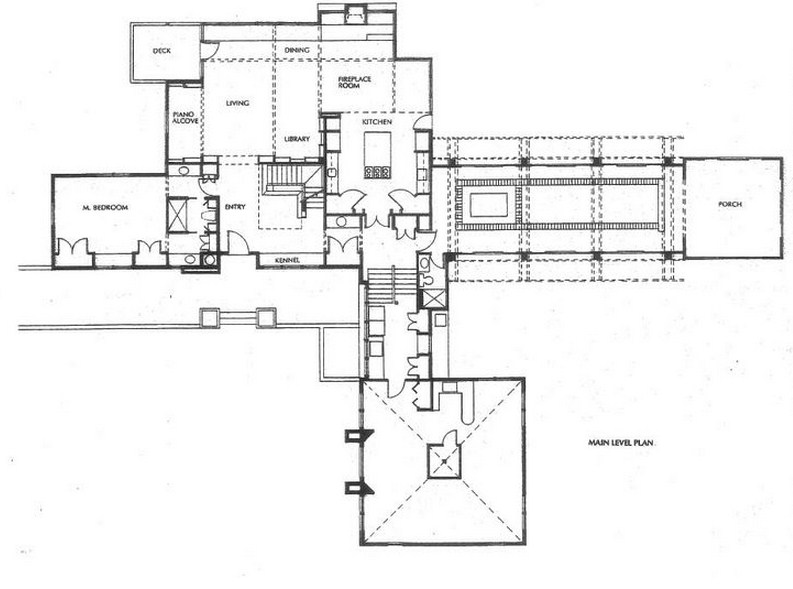 Plano de casa grande y moderna for Casas grandes modernas