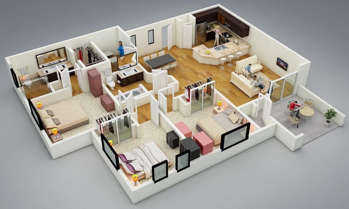 Plano casa moderna for Casas campestres modernas planos