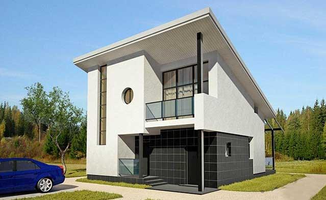 Casa de dos pisos con medidas en metros