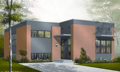 Modelo de casa para terreno de 10 x 30