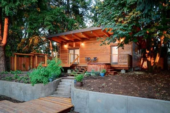 Plano de cabaña de madera chica