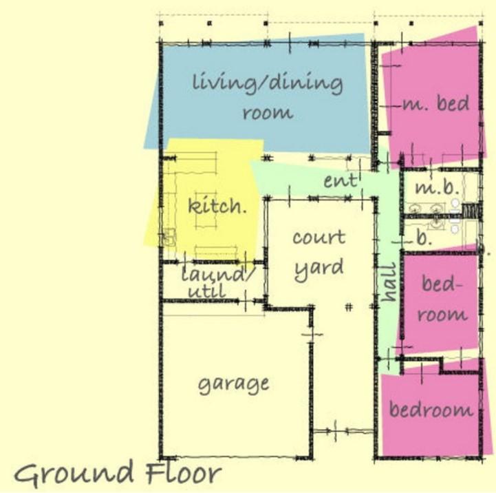 Plano de casa de 180 metros cuadrados en 1 piso
