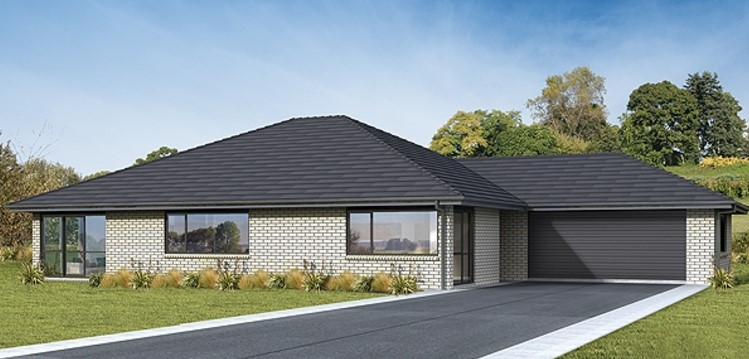 Plano de casa moderna con 240 metros cuadrados