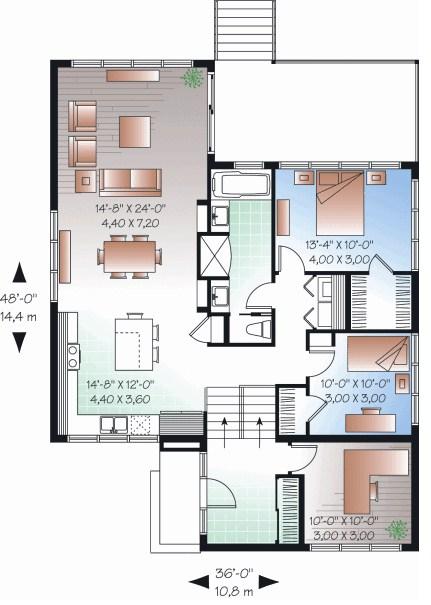 Casa para terreno de 10 x 30 metros for Diseno de casa de 5 x 10