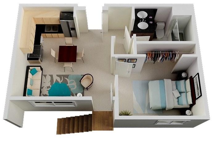 Modelos de departamentos de soltero planos de casas part 2 for Planos para construir