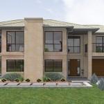 Plano de casa con balcón de 3 dormitorios