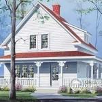 Plano de casa con galería exterior