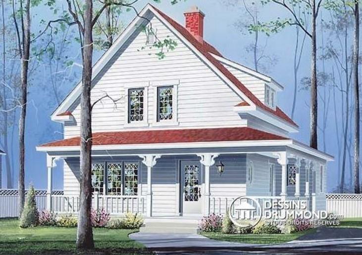casa con galería exterior