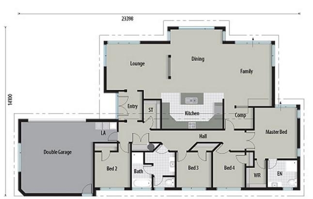 casa moderna y ancha con 4 habitaciones