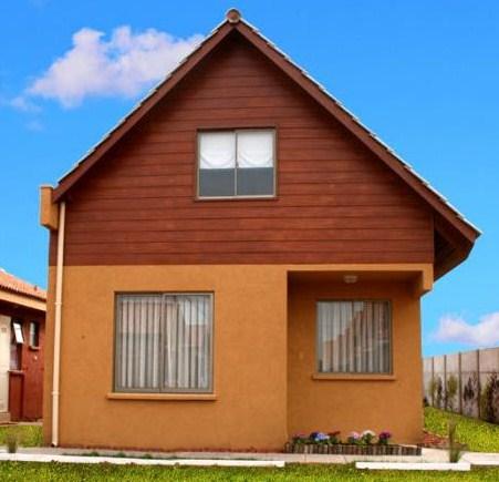 Casa sencilla de 2 pisos