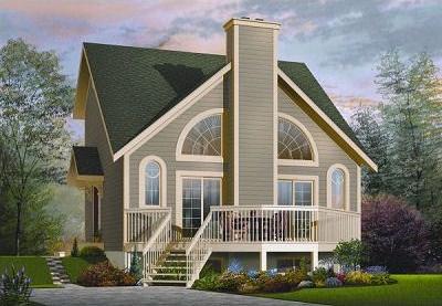 Diseño de casa de un dormitorio en la planta alta