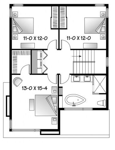 Plano de casa sin cochera for Planos de pisos de 3 dormitorios