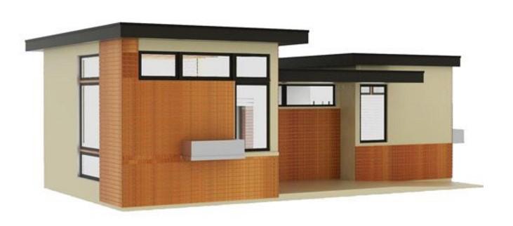 Plano casa pequeña 1 dormitorio