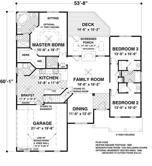 Plano de casa con estanque