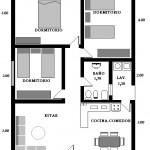 Plano de casa de 7 x 9 m