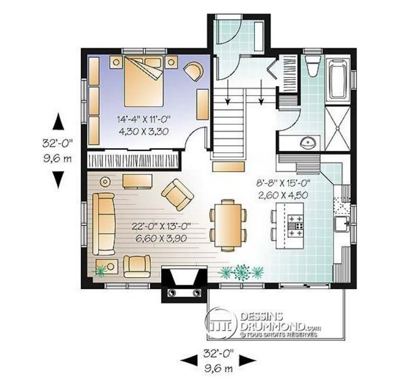 Casa moderna interior en planos for Plano de casa quinta moderna