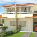 Plano de casa en condominio tipo duplex
