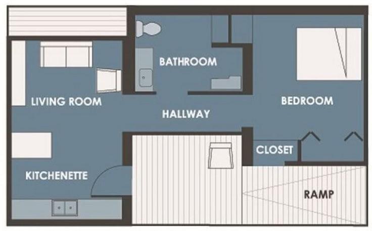 casa pequeña 1 dormitorio