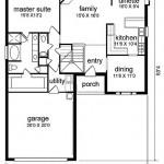 Plano de casa con 6 dormitorios
