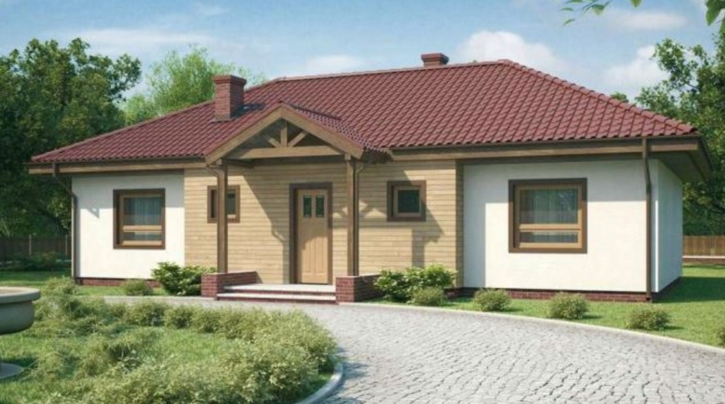 Casa con camino de piedras