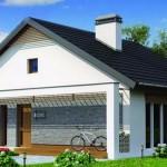 Casa con tejas planas