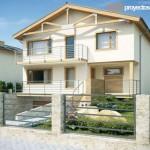 Casa moderna con 3 plantas y subsuelo