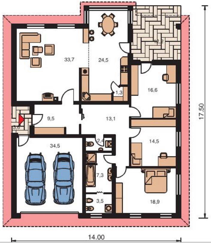 Diseos de casas de una planta proyecto casa de campo - Casas de una planta ...