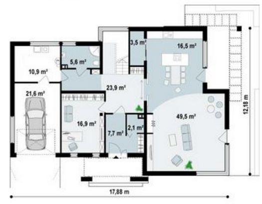 Planos de casas planos de casas con todo tipo de for Planos de cocinas tipo americano