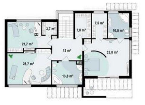 Plano de casa de 2 pisos planos de casas for Oficinas modernas planos