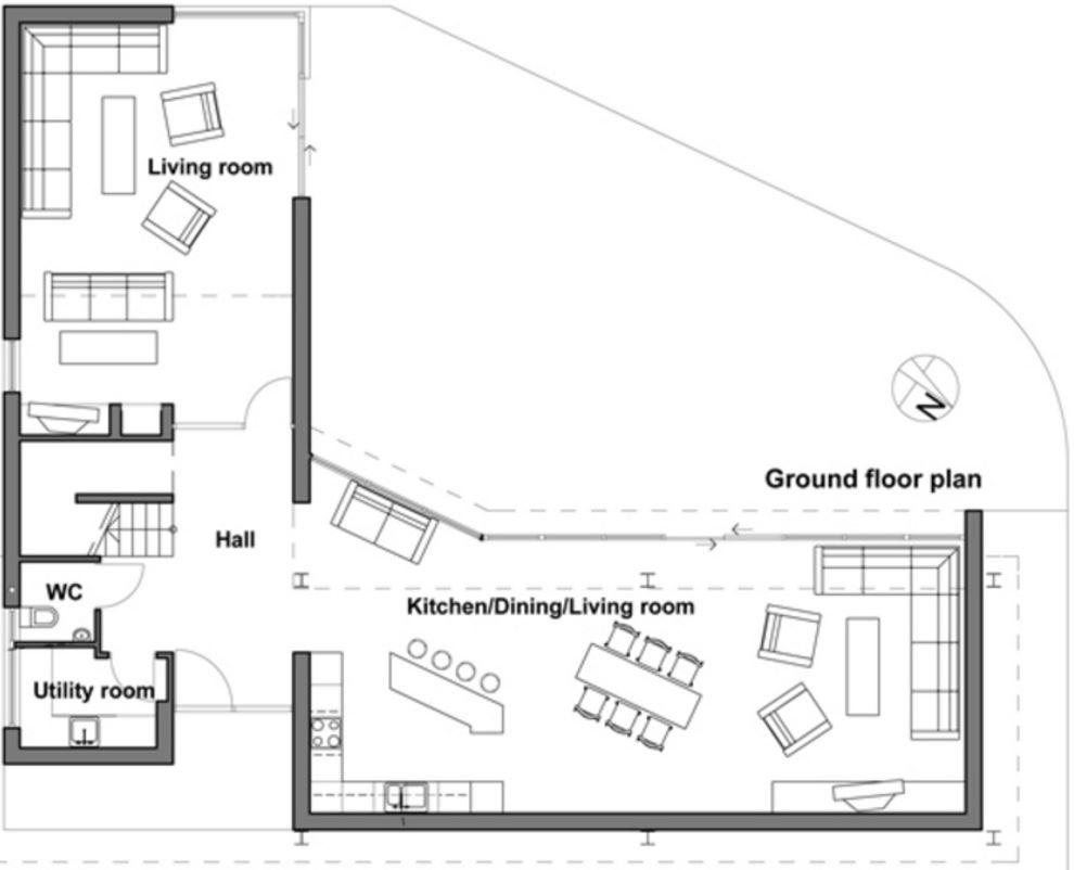 Casa moderna de 250 metros cuadrados for Casa moderna 50 metros cuadrados