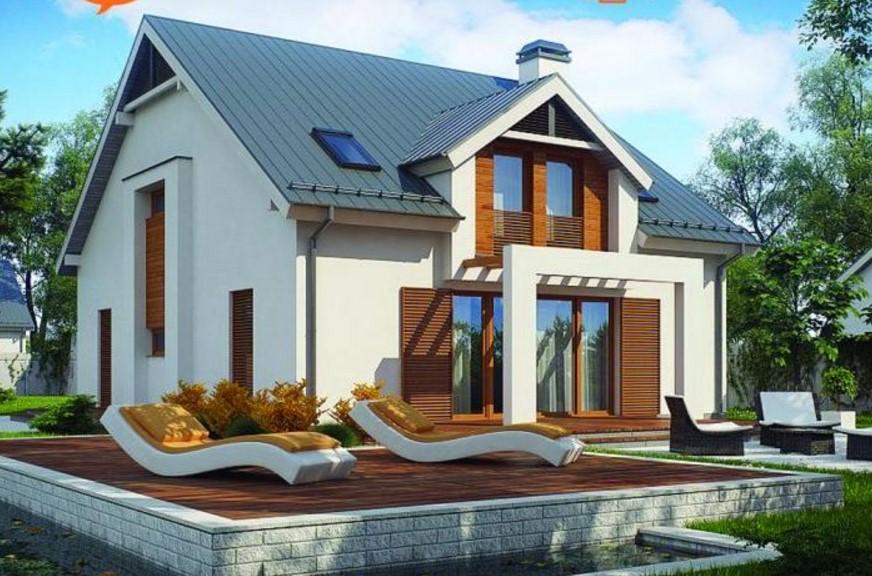 Plano de casa de 2 pisos con techos grandes for Casas modernas techos inclinados