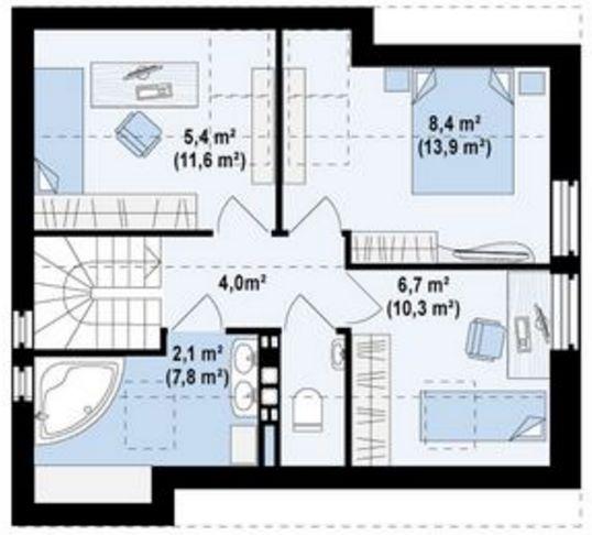 casa con tejas en el techo