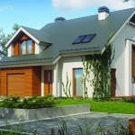Plano de casa de 2 pisos con techos grandes