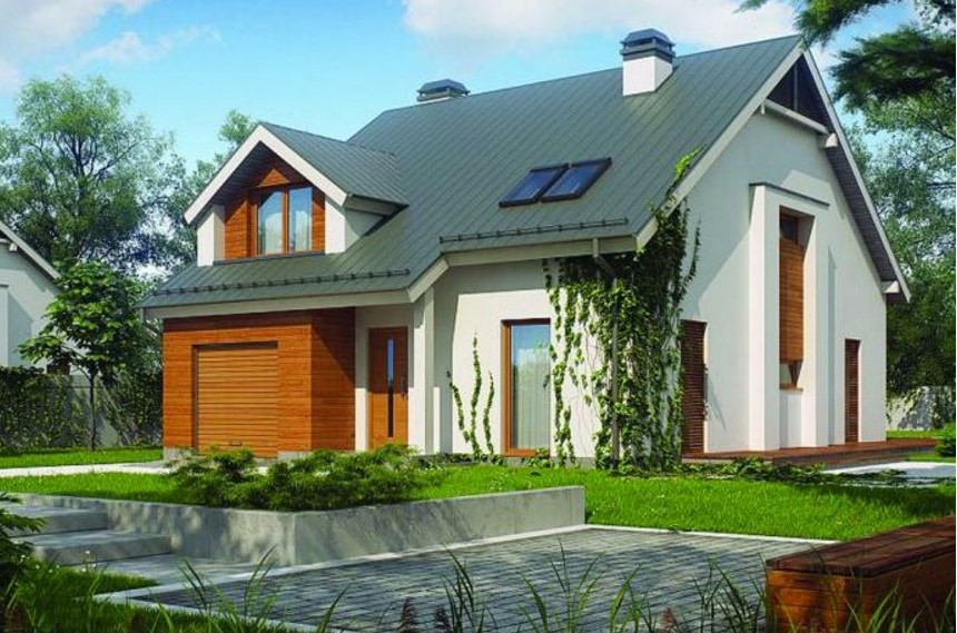 Fachada con techos con buhardilla planos de casas for Pisos elegantes para casas