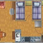Planos de casas de una planta rectangular