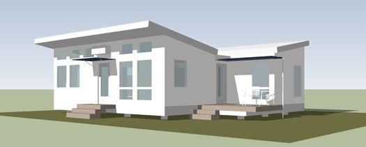fachadas de casas con techos inclinados