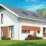 Plano de casa con fachada
