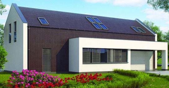 Plano de casa de 18 x 15 m for Fachadas de chalets modernos