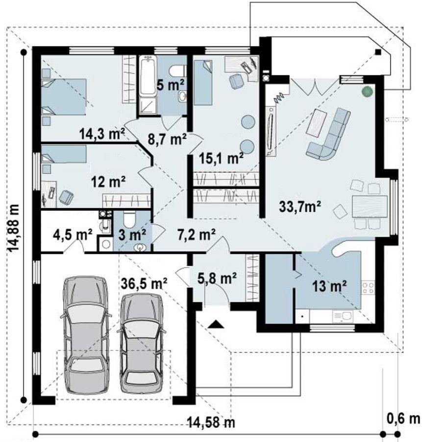 Medidas de un garaje doble