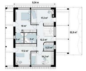 planos de casas de dos pisos 6 x 14
