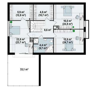 Plano para casa de 15 x 15 m