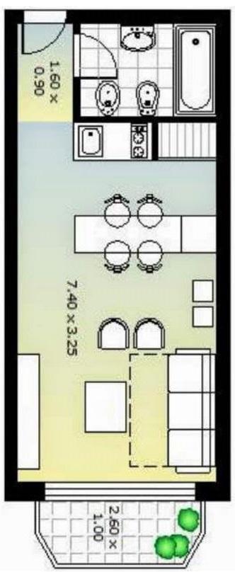 Planos con medidas para departamentos de 50 metros cuadrados for Planos de casas con medidas